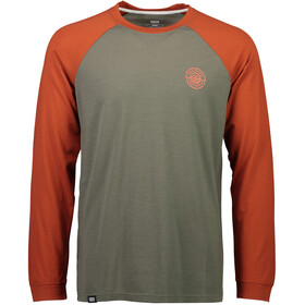Mons Royale M's Icon Raglan LS Clay/Olive